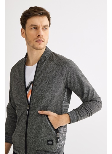 Avva Erkek  Dik Yaka Sweatshirt A01Y1007 Antrasit